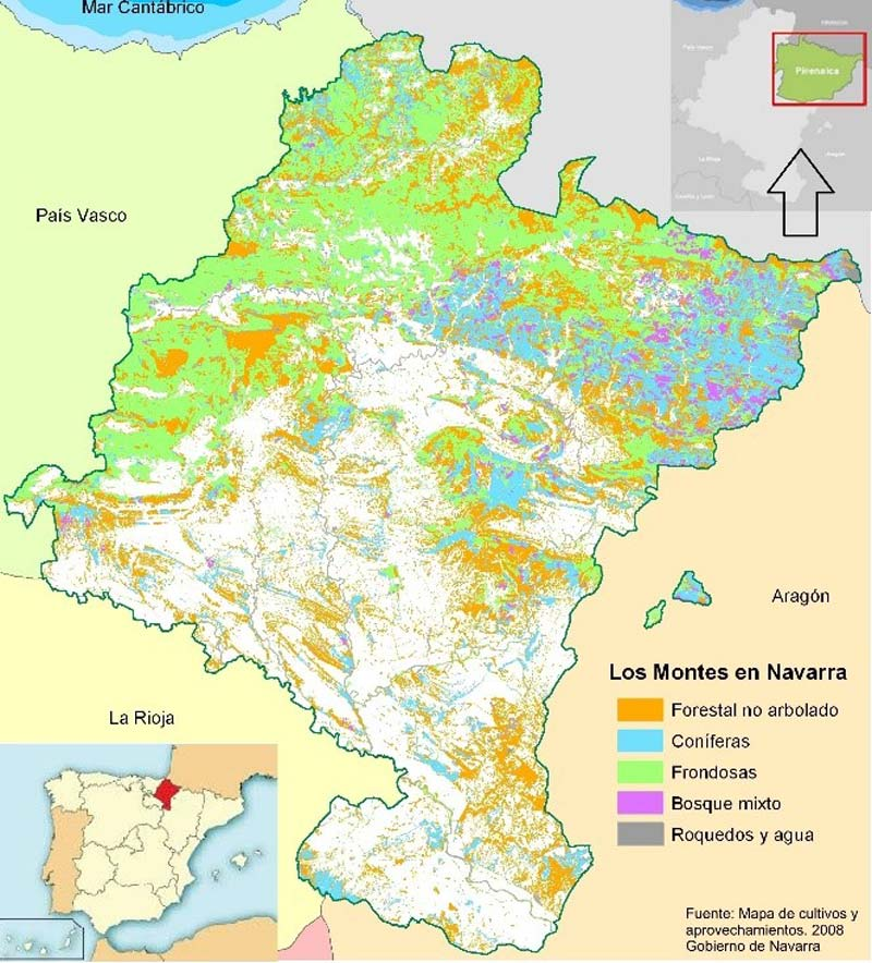 Map Of Spain Navarra.Spain Mysustainableforest